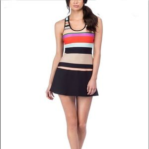 Trina Turk Mod Stripe Tennis Dress
